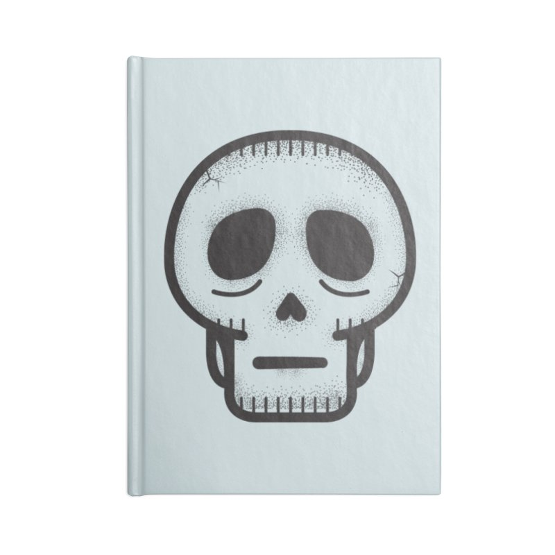 Hollow Skull Accessories Lined Journal Notebook by Gentlemen Tees