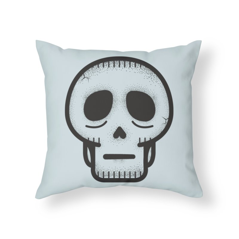 Hollow Skull Home Throw Pillow by Gentlemen Tees