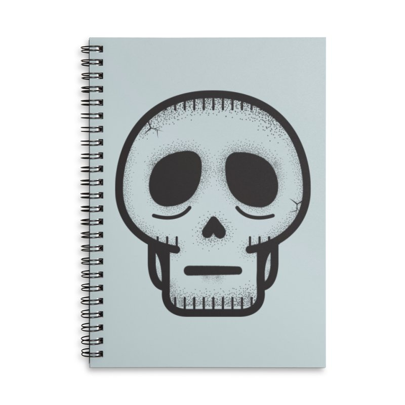 Hollow Skull Accessories Lined Spiral Notebook by Gentlemen Tees