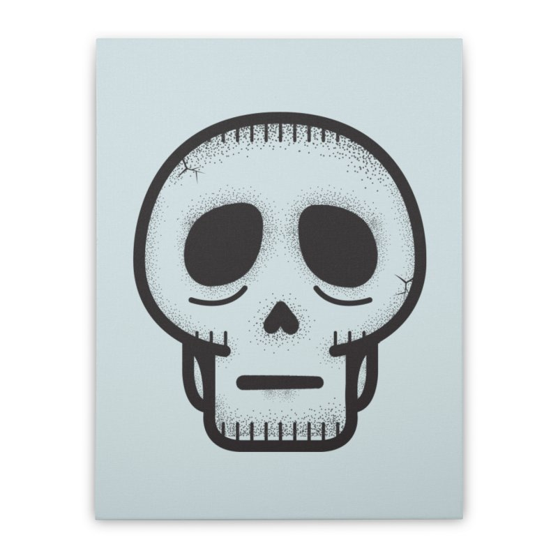 Hollow Skull Home Stretched Canvas by Gentlemen Tees