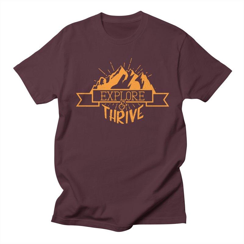 Explore & Thrive Men's Regular T-Shirt by Gentlemen Tees