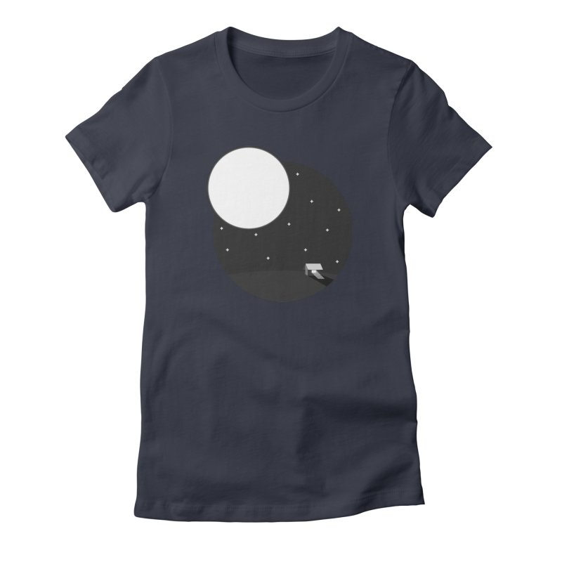 Full Moon Women's Fitted T-Shirt by Gentlemen Tees