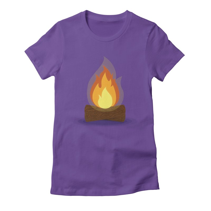 Quiet Flame Women's Fitted T-Shirt by Gentlemen Tees
