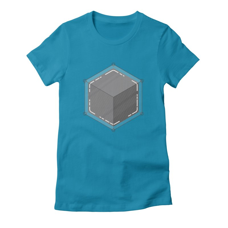 Hexacube Women's Fitted T-Shirt by Gentlemen Tees
