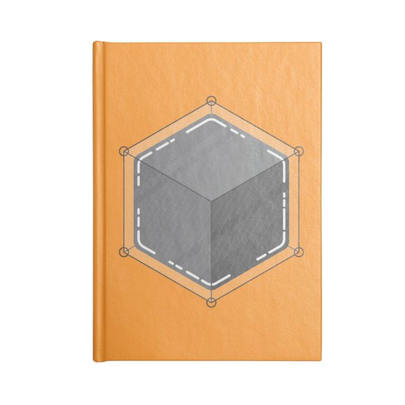 Hexacube Accessories Blank Journal Notebook by Gentlemen Tees