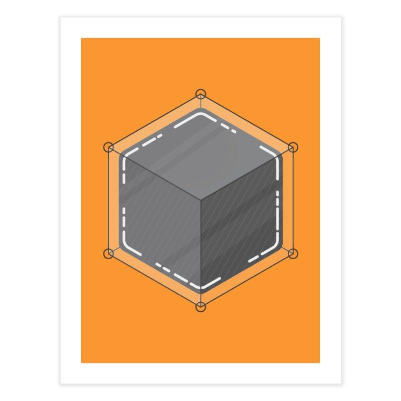 Hexacube Home Fine Art Print by Gentlemen Tees