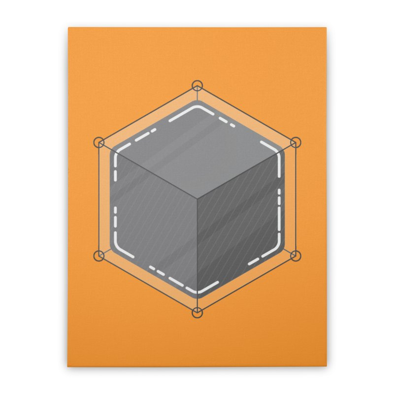 Hexacube Home Stretched Canvas by Gentlemen Tees
