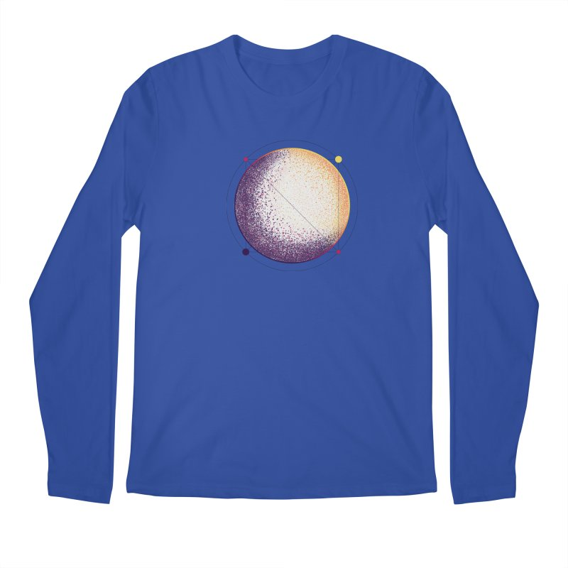 Lunar Orbit Men's Regular Longsleeve T-Shirt by Gentlemen Tees