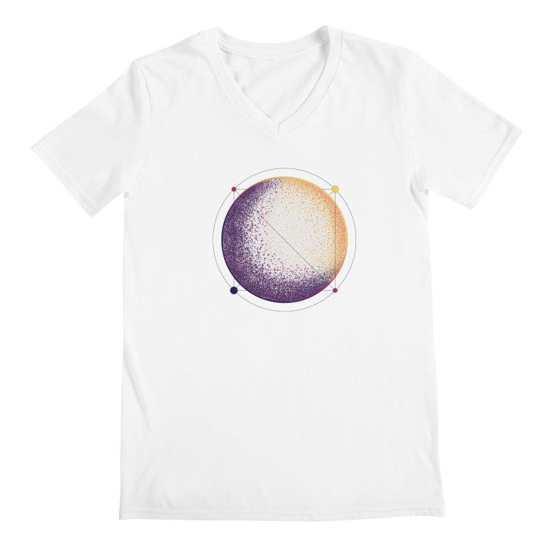 Lunar Orbit Men's Regular V-Neck by Gentlemen Tees