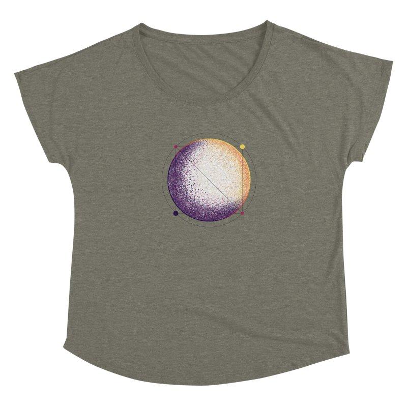 Lunar Orbit Women's Dolman Scoop Neck by Gentlemen Tees