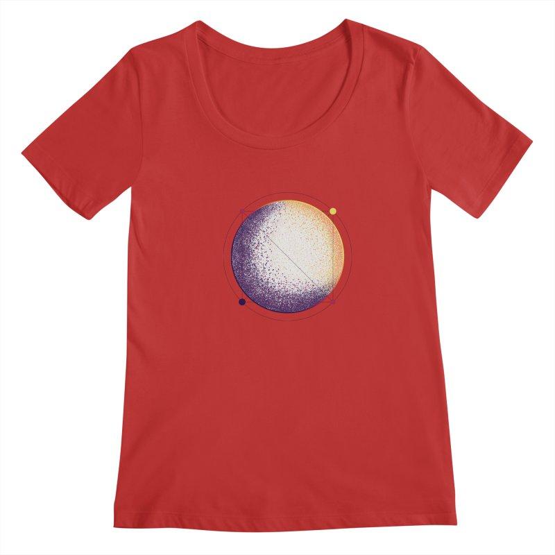 Lunar Orbit Women's Regular Scoop Neck by Gentlemen Tees