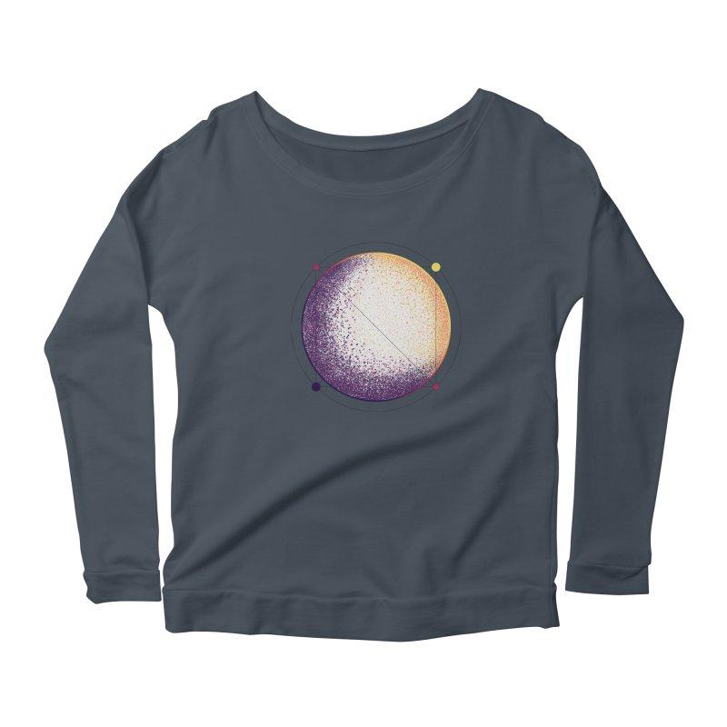 Lunar Orbit Women's Scoop Neck Longsleeve T-Shirt by Gentlemen Tees