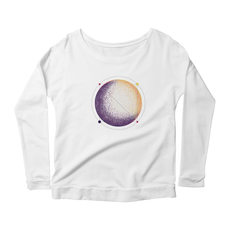 Lunar Orbit Women's Scoop Neck Longsleeve T-Shirt by Gentlemen Tees