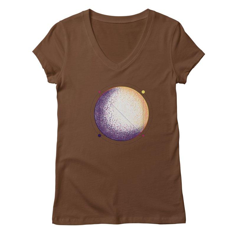 Lunar Orbit Women's Regular V-Neck by Gentlemen Tees