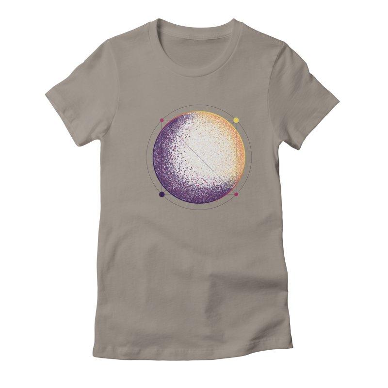 Lunar Orbit Women's Fitted T-Shirt by Gentlemen Tees