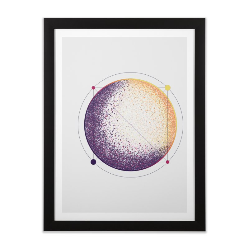 Lunar Orbit Home Framed Fine Art Print by Gentlemen Tees