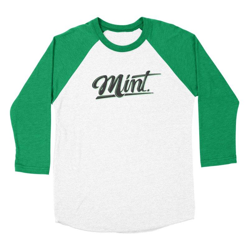 Mint Women's Baseball Triblend Longsleeve T-Shirt by Gentlemen Tees