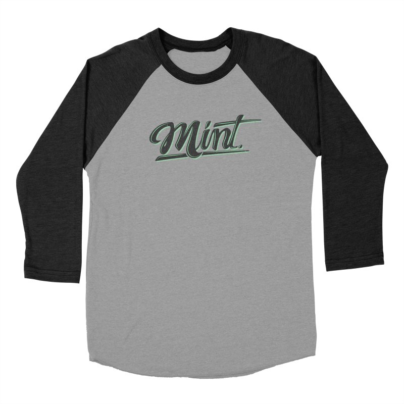 Mint Men's Baseball Triblend Longsleeve T-Shirt by Gentlemen Tees