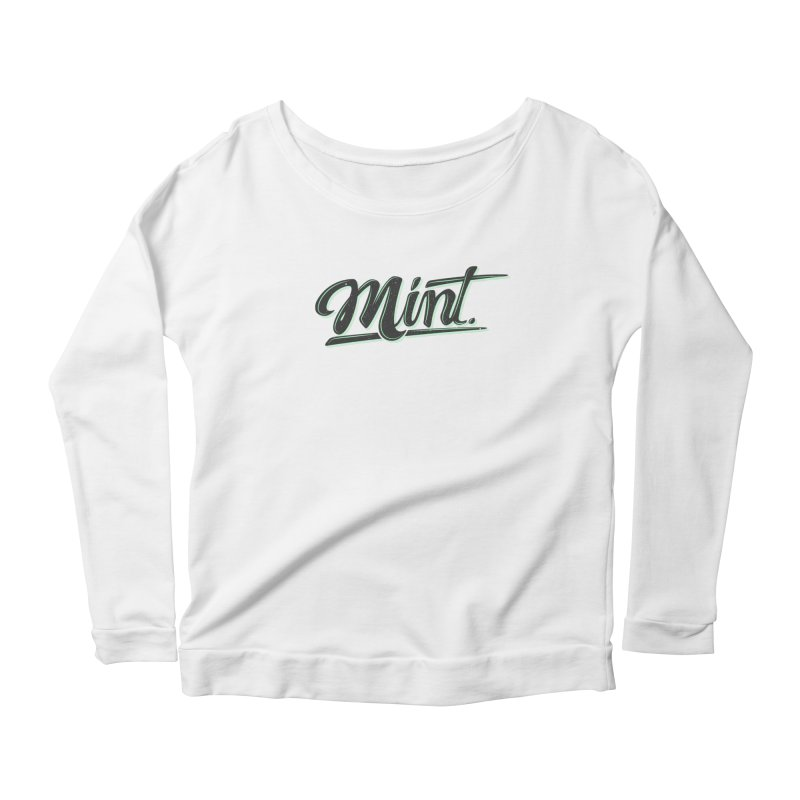 Mint Women's Scoop Neck Longsleeve T-Shirt by Gentlemen Tees
