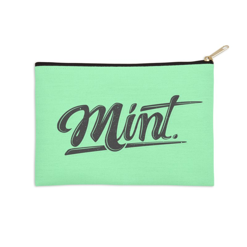 Mint Accessories Zip Pouch by Gentlemen Tees
