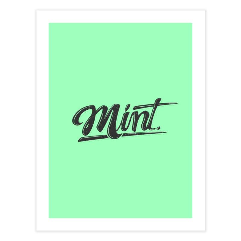 Mint Home Fine Art Print by Gentlemen Tees