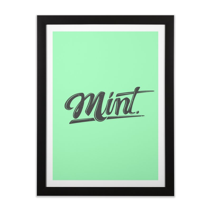 Mint Home Framed Fine Art Print by Gentlemen Tees