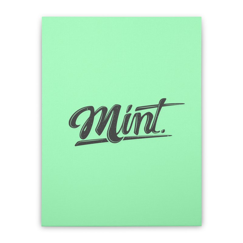 Mint Home Stretched Canvas by Gentlemen Tees