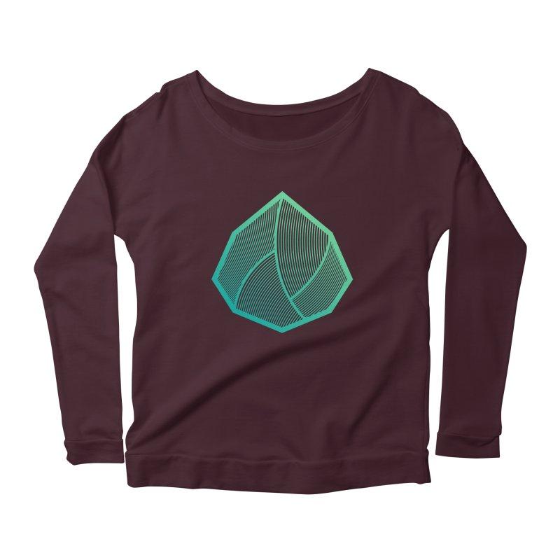 Alpha Mark Women's Scoop Neck Longsleeve T-Shirt by Gentlemen Tees