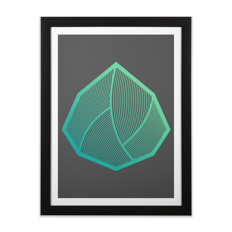 Alpha Mark Home Framed Fine Art Print by Gentlemen Tees