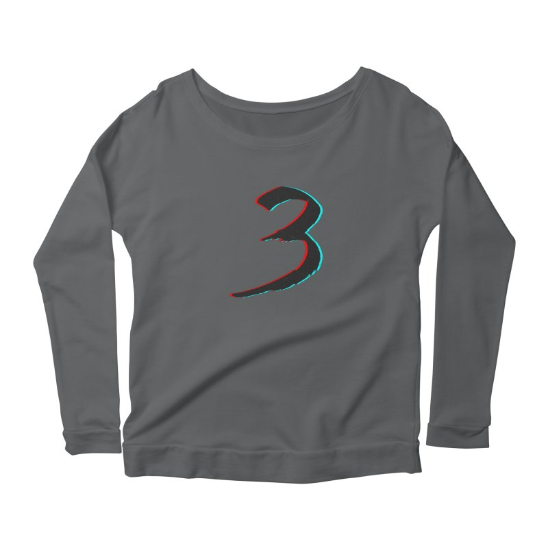 3 Women's Scoop Neck Longsleeve T-Shirt by Gentlemen Tees