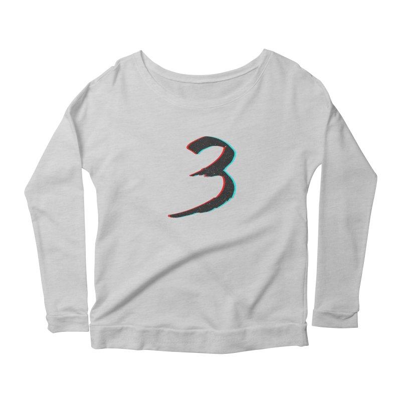 3 Women's Scoop Neck Longsleeve T-Shirt by Gentlemen Tees