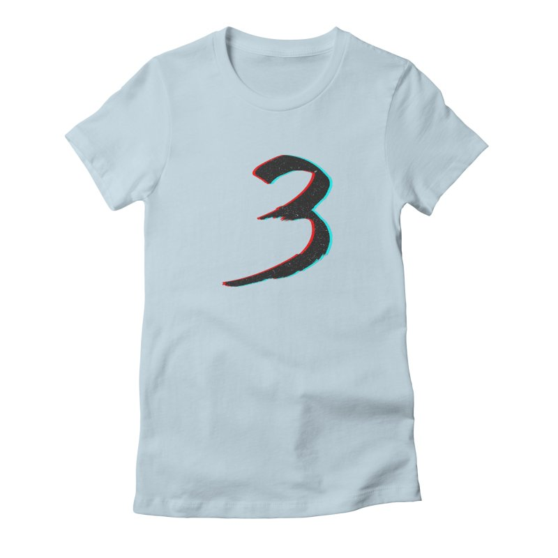 3 Women's Fitted T-Shirt by Gentlemen Tees