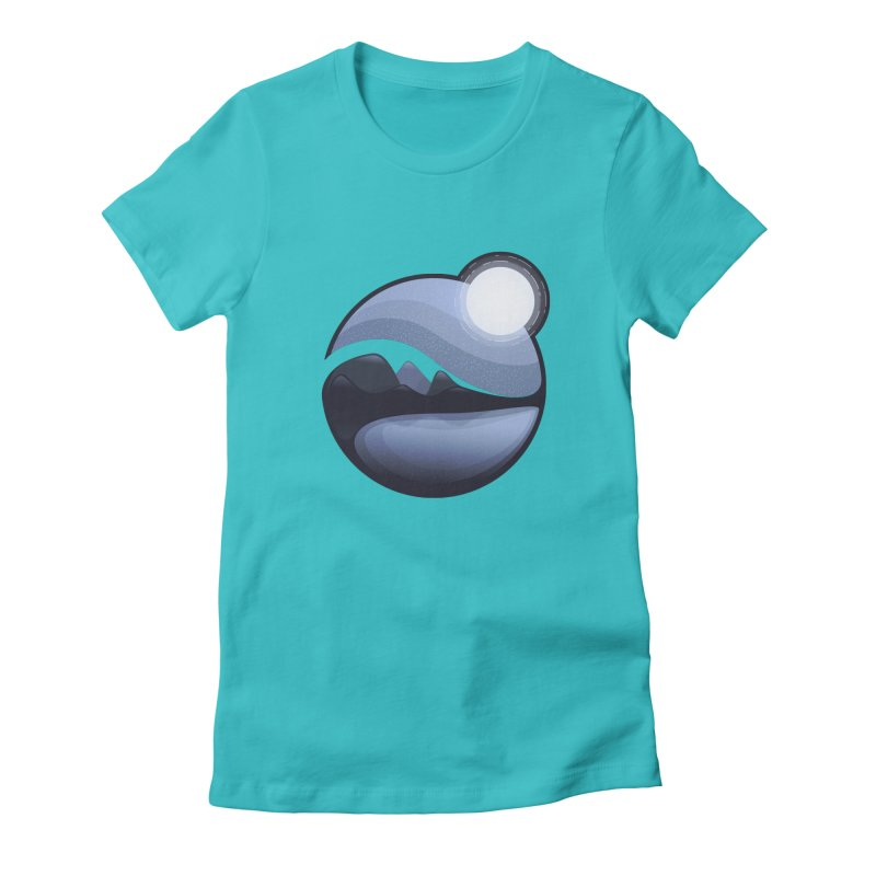 Reflection Women's Fitted T-Shirt by Gentlemen Tees