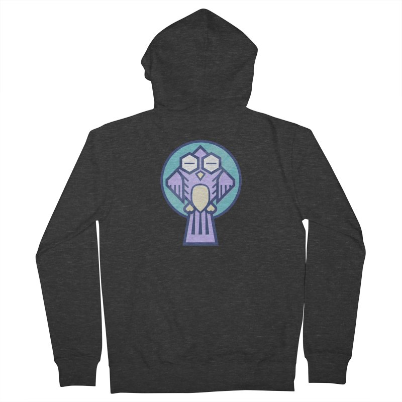 Night Owl Women's French Terry Zip-Up Hoody by Gentlemen Tees