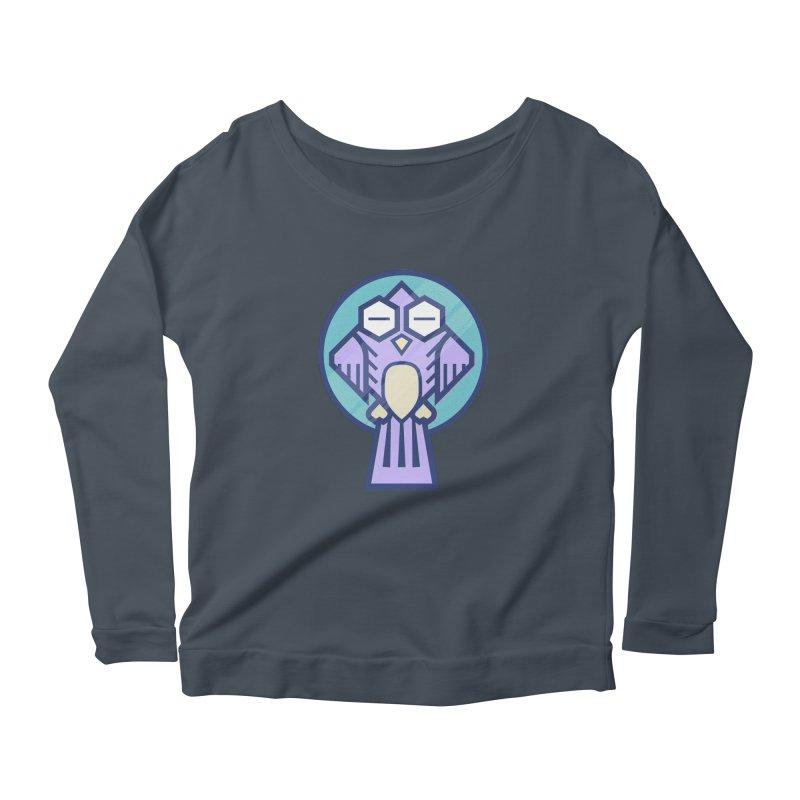 Night Owl Women's Scoop Neck Longsleeve T-Shirt by Gentlemen Tees