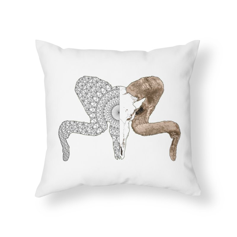 Corsican Ram Pillow in Throw Pillow by Geometric Evolution
