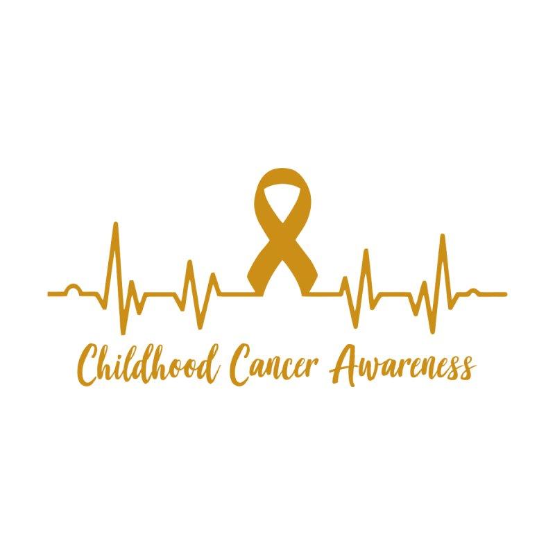 Childhood Cancer Awareness Heartbeat Ribbon Gold Men's T-Shirt by GeorgeSaysCancerSucks