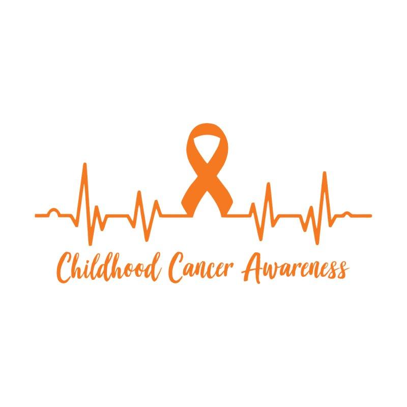 Childhood Cancer Awareness Heartbeat Ribbon Orange Men's T-Shirt by GeorgeSaysCancerSucks