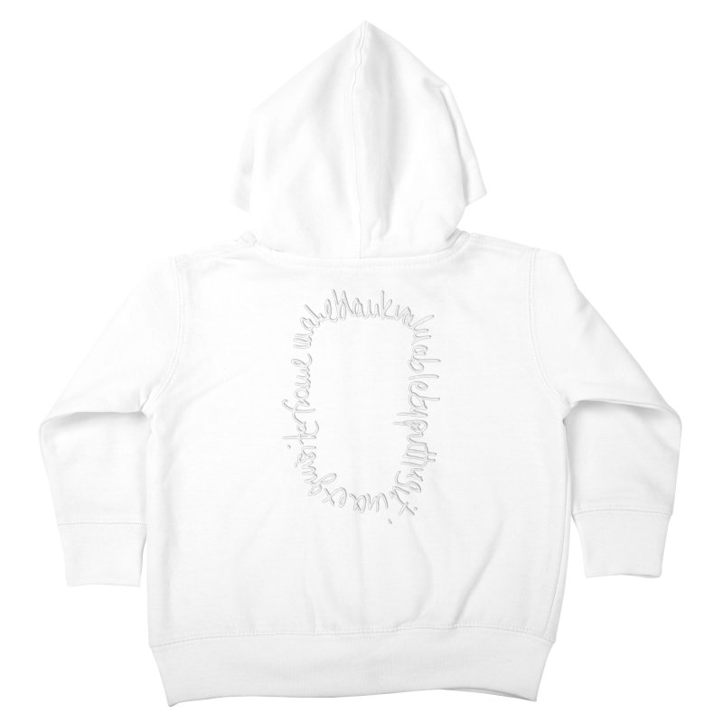 Make a blank valuable by putting it in an exquisite frame Kids Toddler Zip-Up Hoody by Getoutski's Artist Shop