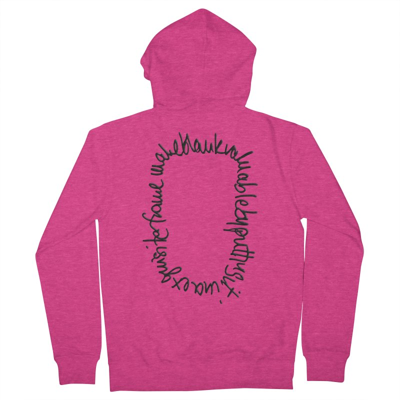 Make a blank valuable by putting it in an exquisite frame Women's French Terry Zip-Up Hoody by Getoutski's Artist Shop