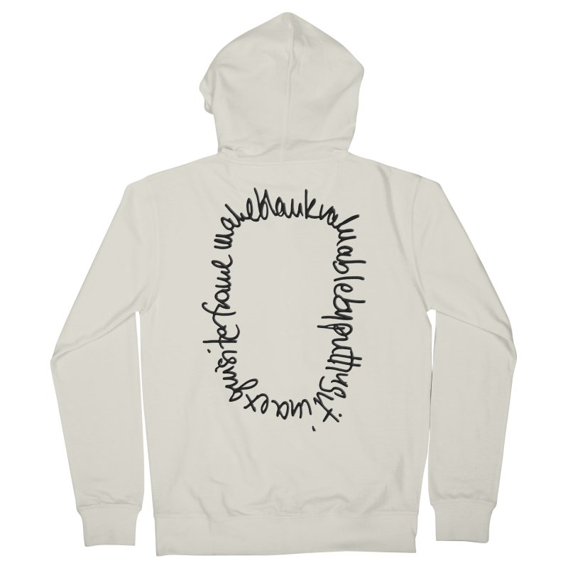 Make a blank valuable by putting it in an exquisite frame Women's Zip-Up Hoody by Getoutski's Artist Shop