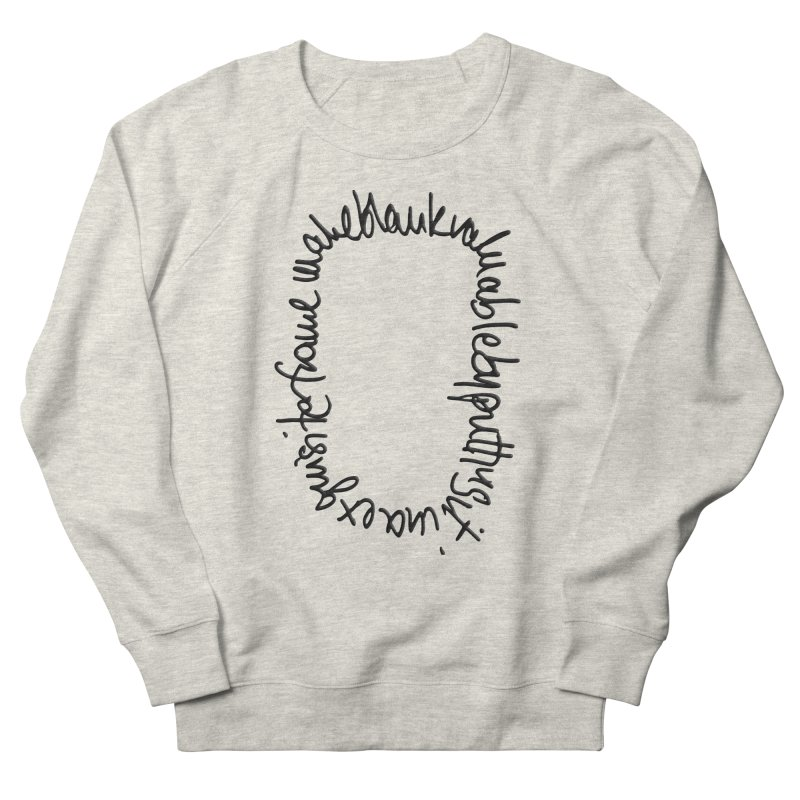 Make a blank valuable by putting it in an exquisite frame Men's French Terry Sweatshirt by Getoutski's Artist Shop