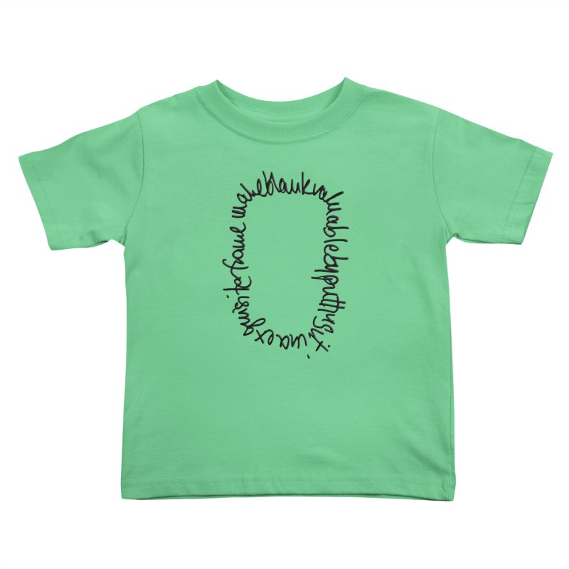 Make a blank valuable by putting it in an exquisite frame Kids Toddler T-Shirt by Getoutski's Artist Shop