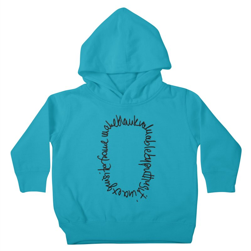 Make a blank valuable by putting it in an exquisite frame Kids Toddler Pullover Hoody by Getoutski's Artist Shop