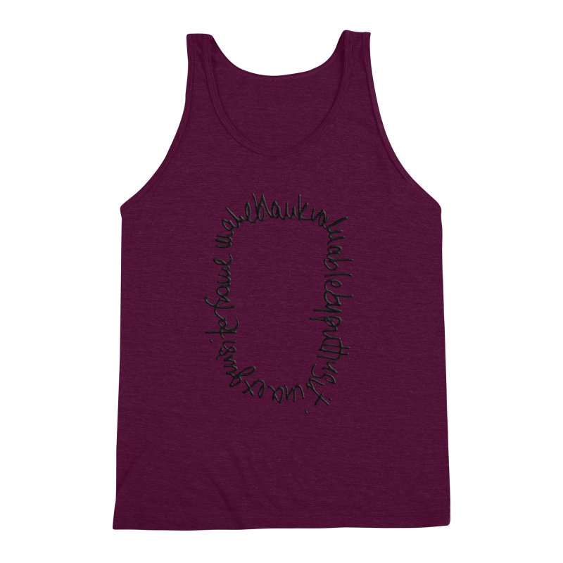 Make a blank valuable by putting it in an exquisite frame Men's Triblend Tank by Getoutski's Artist Shop