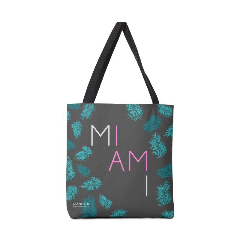 I AM MIAMI - Tote Accessories Bag by GiannaD's Artist Shop