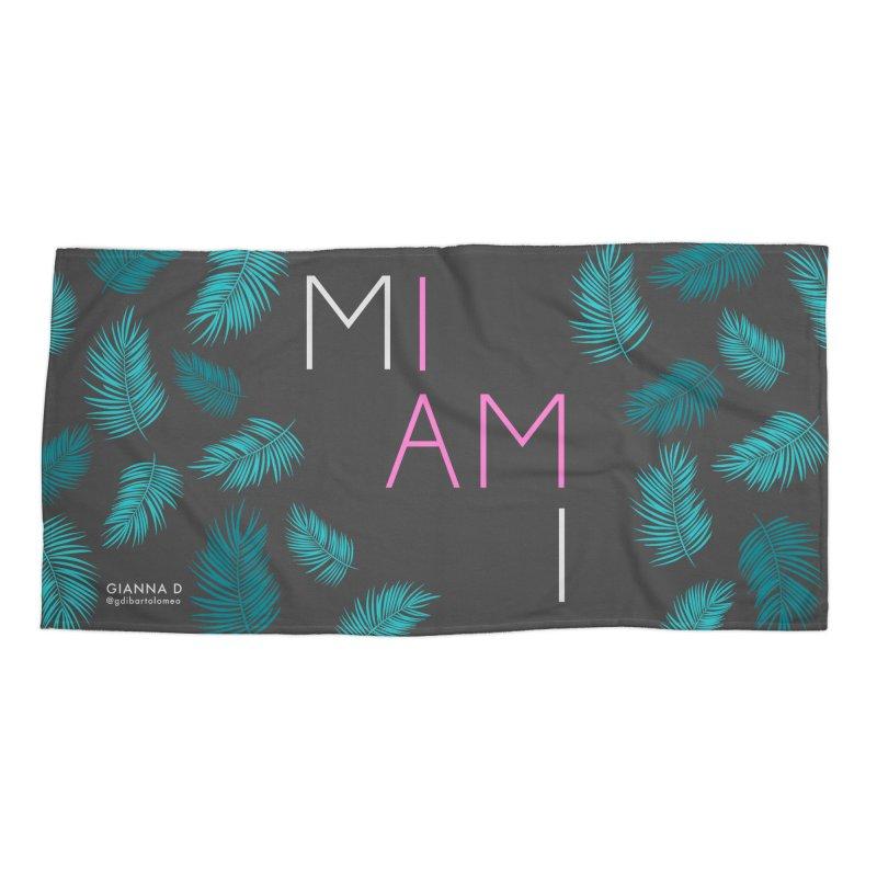 I AM MIAMI - Beach Towel Accessories Beach Towel by GiannaD's Artist Shop