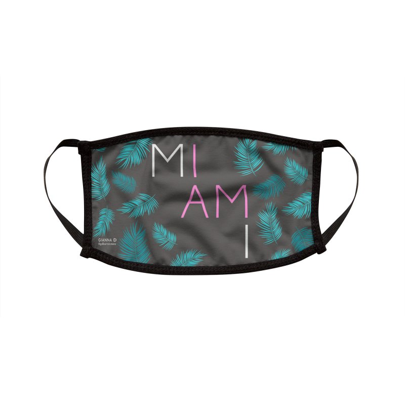 I AM MIAMI - Face Mask Accessories Face Mask by GiannaD's Artist Shop