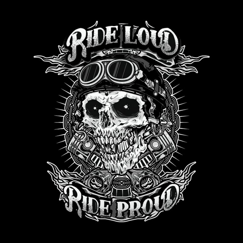 Ride Loud Ride Proud Biker Tee Kids Pullover Hoody by Giftedshirt's Artist Shop