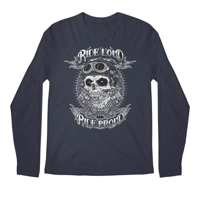 Ride Loud Ride Proud Biker Tee Men's Longsleeve T-Shirt by Giftedshirt's Artist Shop